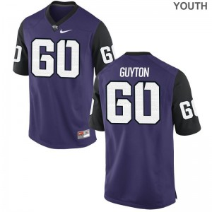S-XL Texas Christian University Nate Guyton Jerseys Alumni For Kids Game Purple Black Jerseys