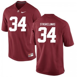 University of Alabama Nate Staskelunas Jersey S-2XL Limited Red Women