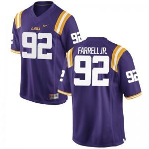 Neil Farrell Jr. Louisiana State Tigers Jerseys Mens Purple Game Jerseys