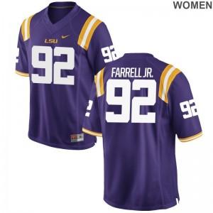 Neil Farrell Jr. Louisiana State Tigers Jerseys S-2XL Purple Womens Limited