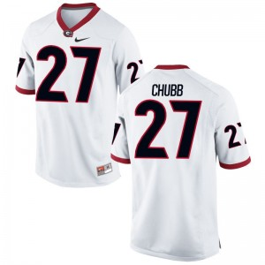 White For Men Limited UGA Jerseys of Nick Chubb