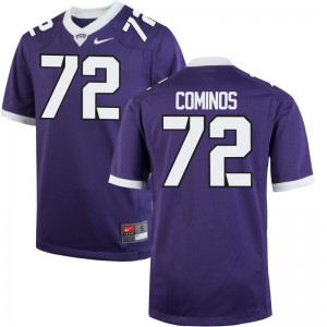 Nick Cominos Mens Jersey S-3XL Limited Horned Frogs - Purple
