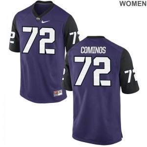 Limited Nick Cominos NCAA Jersey TCU Women Purple Black