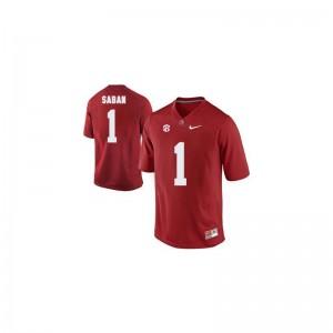 Nick Saban Youth Jersey S-XL Limited Alabama - Red