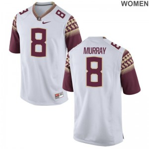 Nyqwan Murray Womens Jerseys S-2XL Game FSU Seminoles - White