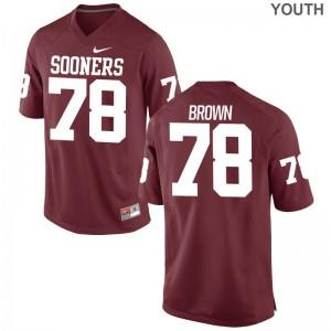 Kids Limited High School OU Jersey Orlando Brown Crimson Jersey