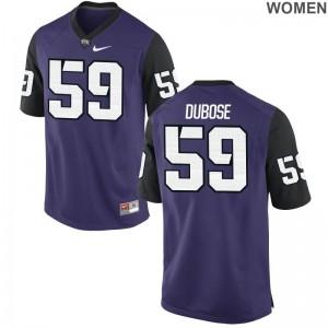 Parker DuBose Texas Christian University Jerseys Game Women - Purple Black