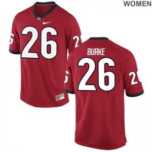 Patrick Burke UGA Bulldogs Jersey Women Limited Red Jersey
