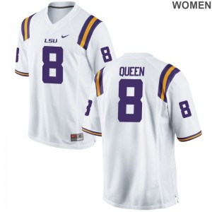 Women Patrick Queen NCAA Jerseys LSU Limited White