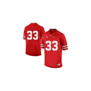 Pete Johnson Game Jerseys For Men Player OSU Buckeyes Red Jerseys