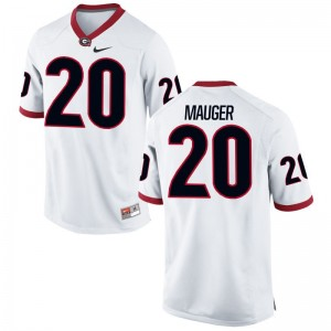 Quincy Mauger UGA Limited For Men White Jersey
