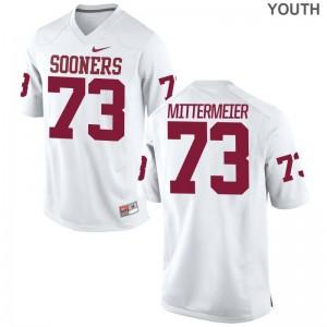 Oklahoma Quinn Mittermeier College Jerseys Kids Game White