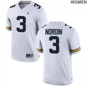Wolverines Quinn Nordin Womens Limited Jersey S-2XL - Jordan White