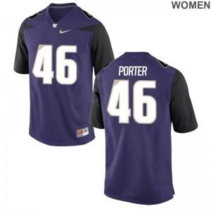 Limited Race Porter Jerseys S-2XL UW Huskies Womens Purple