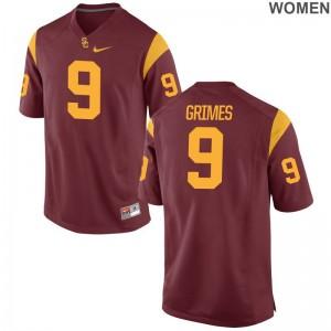 Randal Grimes USC Trojans NCAA Jersey Womens White Limited Jersey