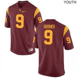 Randal Grimes Game Jersey Youth(Kids) USC Trojans White Jersey