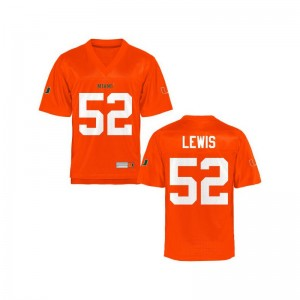 For Men Ray Lewis Jersey Orange Limited Miami Jersey