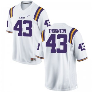 Louisiana State Tigers Ray Thornton College Jersey Game For Men White Jersey