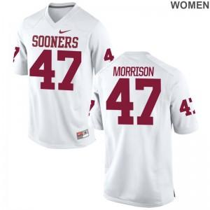 Reece Morrison Womens Jerseys S-2XL White Limited Oklahoma Sooners