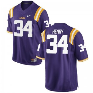 Reshaud Henry LSU Mens Purple Game Player Jerseys