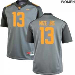 Tennessee Volunteers Richard Mize Jr. Game For Women Jerseys - Gray