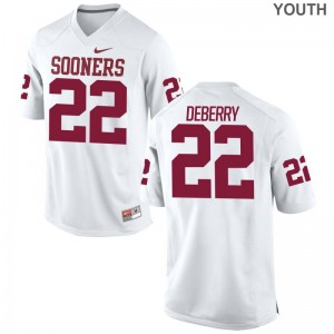 Oklahoma Ricky DeBerry Jerseys White For Kids Game