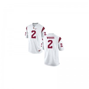 Women Robert Woods Jerseys S-2XL USC Game - White