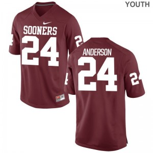 Rodney Anderson Oklahoma Sooners Jersey Crimson Kids Limited