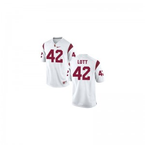 Trojans Jersey of Ronnie Lott Limited Youth(Kids) - White