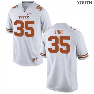 Russell Hine High School Jerseys Kids Texas Longhorns White Game