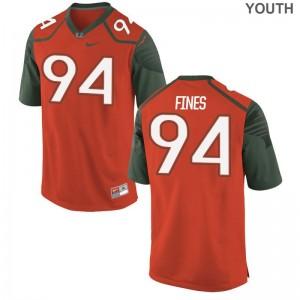 Hurricanes Youth Limited Orange Ryan Fines High School Jerseys