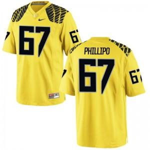 S-XL Oregon Ryan Phillipo Jersey Kids Limited Gold Jersey