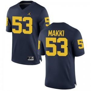 Salim Makki Michigan Jerseys S-3XL Game For Men Jordan Navy