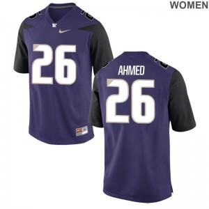 Washington Jerseys Salvon Ahmed For Women Game - Purple