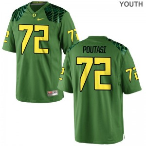 Oregon Ducks Youth Apple Green Limited Sam Poutasi Football Jersey