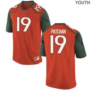 University of Miami Game Kids Scott Patchan NCAA Jersey - Orange