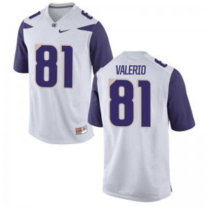 Sebastian Valerio Washington Huskies High School Jersey Game White For Men