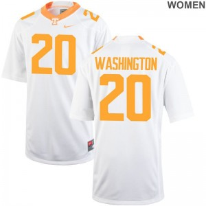 Tennessee Vols Seth Washington NCAA Jersey White Ladies Game