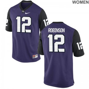 TCU Shawn Robinson Game Women Player Jersey - Purple Black