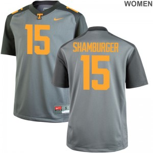 Vols Shawn Shamburger Ladies Game Football Jersey Gray