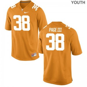 Tennessee Game Solon Page III For Kids Orange Jersey S-XL