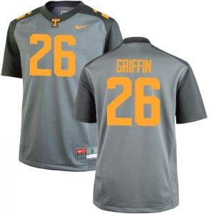 Kids Stephen Griffin Jersey Gray Game Tennessee Vols Jersey