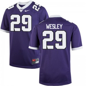 Texas Christian University Steve Wesley Jersey Ladies Purple Limited
