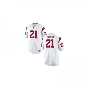Su'a Cravens USC Trojans White For Men Game Jerseys