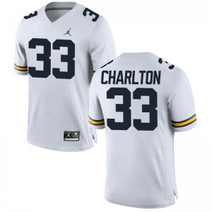 University of Michigan Taco Charlton Men Limited Jerseys Jordan White