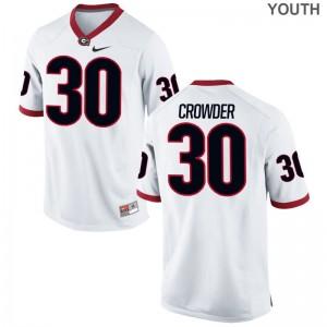 UGA Bulldogs Tae Crowder Kids Game Jerseys - White