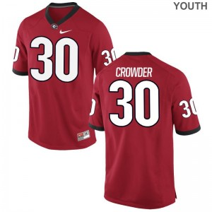 Georgia High School Jerseys of Tae Crowder For Kids Red Limited
