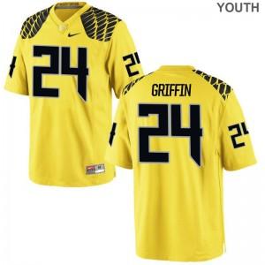 Taj Griffin Ducks Jerseys Gold Youth Game