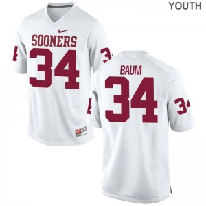 Tanner Baum Youth(Kids) Oklahoma Jersey White Limited Jersey