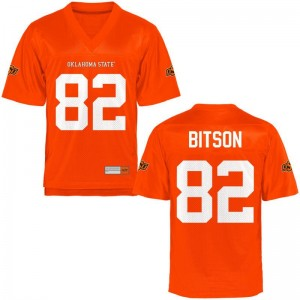 Oklahoma State Tariq Bitson Game Jerseys Orange For Men